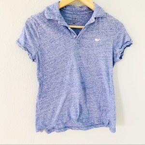 Vineyard Vines Blue Space Dye Polo Shirt Sz XXS